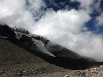 Monsoon Clouds near a Himalayan Glacier Stock Photography
