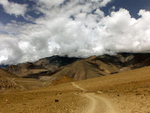 Monsoon Clouds over Desert Himalayan Landscape Stock Images