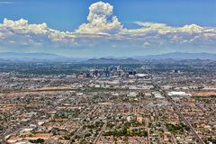 Monsoon Clouds over Phoenix Royalty Free Stock Image
