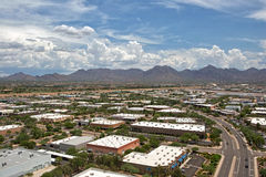 Monsoon Clouds over Scottsdale, Arizona. Monsoon clouds over the McDowell Mountains in north Scottsdale, Arizona royalty free stock photos