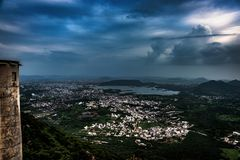 Monsoon Clouds over Udaipur stock photos