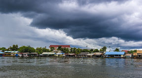 Monsoon clouds in Thailand. Monsoon clouds - KANCHANABURI, THAILAND - SEPTEMBER 01 - Dense monsoon clouds on September 01, 2012 in Kanchanaburi, Thailand. In Royalty Free Stock Image