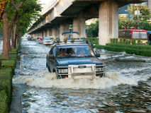 Monsoon flooding in Bangkok, November 2011 Stock Photography