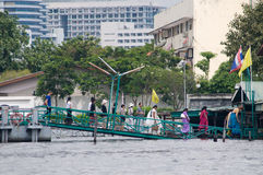 Monsoon flooding in Bangkok October 2011 Royalty Free Stock Photos