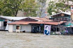 Monsoon flooding in Bangkok October 2011 Royalty Free Stock Images