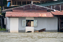 Monsoon flooding in Bangkok October 2011 Stock Images