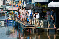 Monsoon flooding in Bangkok October 2011 Royalty Free Stock Image