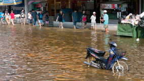 Monsoon flooding in Bangkok October 2011 Stock Image