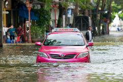 Monsoon flooding in Bangkok, October 2011 Royalty Free Stock Photos