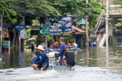 Monsoon flooding in Bangkok, October 2011 Royalty Free Stock Photography