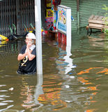 Monsoon flooding in Bangkok, October 2011 Stock Photography