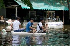 Monsoon flooding in Bangkok, October 2011 Stock Images