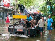 Monsoon flooding in Bangkok, October 2011 Stock Photos