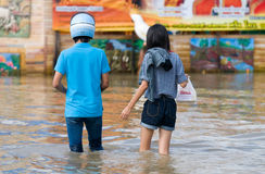 Monsoon flooding in Nakhon Ratchasima, Thailand Stock Images