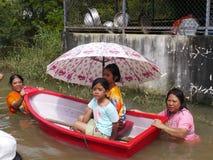 Monsoon flooding in Nakhon Ratchasima, Thailand Royalty Free Stock Photos