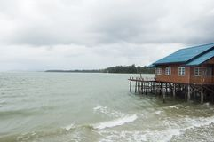 Monsoon on Koh Lanta 's bungalow Stock Photography