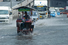 Monsoon rain in Bangkok, Thailand Royalty Free Stock Photography