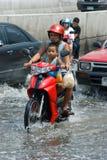 Monsoon rain in Bangkok, Thailand Stock Photo