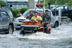 Monsoon rain in Bangkok, Thailand Stock Image
