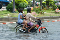 Monsoon rain in Bangkok, Thailand Royalty Free Stock Photos