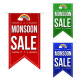 Monsoon sale banner design set Royalty Free Stock Images