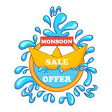 Monsoon sale offer Royalty Free Stock Photos