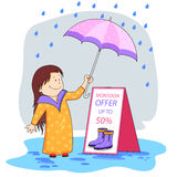 Monsoon sale offer Royalty Free Stock Photo