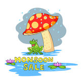 Monsoon sale offer Stock Image