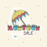 Monsoon Sale poster, banner or flyer. Royalty Free Stock Photos