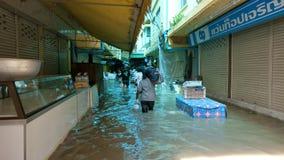 Monsoon season in Ayuttaya, Thailand 2011 Stock Photo