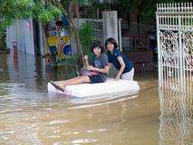 Monsoon season in Ayuttaya, Thailand 2011 Stock Images