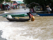 Monsoon season in Ayuttaya, Thailand 2011 Royalty Free Stock Photos