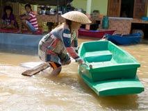 Monsoon season in Ayuttaya, Thailand 2011 Stock Image