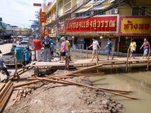 Monsoon season in Ayuttaya, Thailand 2011 Royalty Free Stock Images