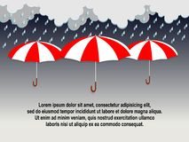 Monsoon Season Flat Design royalty free illustration