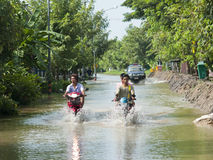 Free Monsoon Season In Ayuttaya, Thailand 2011 Royalty Free Stock Photo - 21462965