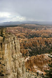 Monsoon storm over Bryce. Summer monsoon storm over bryce canyon national state park utah usa stock photos