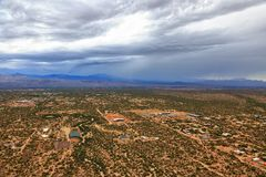 Monsoon Storm over Desert royalty free stock photo