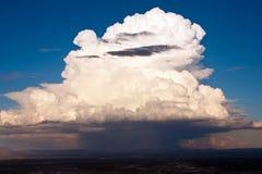 Monsoon Storm-6. Photo of a huge monsoon  cloud pouring rain Stock Photo