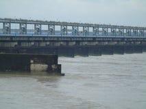 Monsoon view of bridge Stock Photo