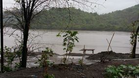 Monsoons in India. Mumbai's Vasai creek during the season of monsoon Stock Photography