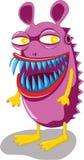 Monster. Purple monster with sharp blue teeth vector illustration