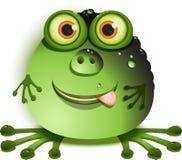 Monster. Illustration, merry green monster with greater eye Stock Image