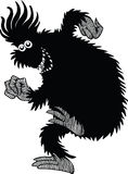 Monster. A silhouette of a monster having a good time Stock Photo