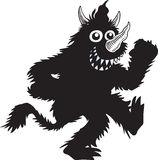 Monster. A silhouette of a monster having a good time Royalty Free Stock Photo