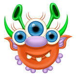 Monster. A raster illustration of a monster for Halloween or other events Royalty Free Stock Photography