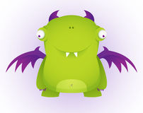 Monster. Green Cute Monster. Cartoon Character Royalty Free Stock Photo
