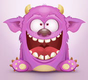 Monster. Laughing Monster. Cute Cartoon Character stock illustration