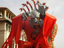 Monster. Representation of the carnival of Viareggio in Tuscany Stock Images