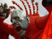 Monster. Representation of the carnival of Viareggio in Tuscany Royalty Free Stock Photography